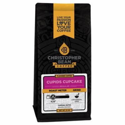 Cupids Cupcake Flavored Whole Bean Coffee, 12 Ounce Bag