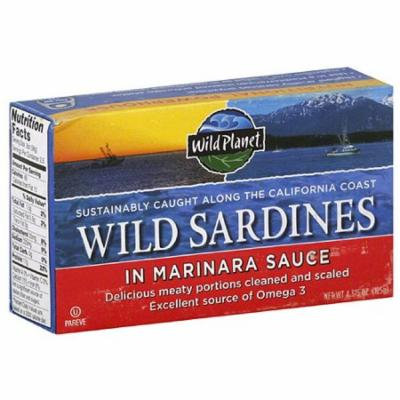 Wild Planet Wild Sardines in Marinara Sauce, 4.375 oz, (Pack of 12)
