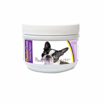 Healthy Breeds ThunderChews Dog Calming Chews for Boston Terrier, Anxiety Support, Easier than Pills or Tablets, Tastes like a Treat, 60 Count
