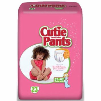 Cuties refastenable training pants for girls 2t-3t, up to 34 lbs. part no. cr7008 (26/package)