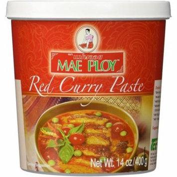 Mae Ploy Thai Red Curry Chili Paste 14oz Jar