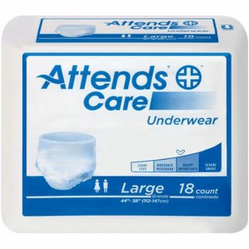 Attends Unisex Regular Absorbency Value Tier Protective Underwear Large 44 58 18 Per Package