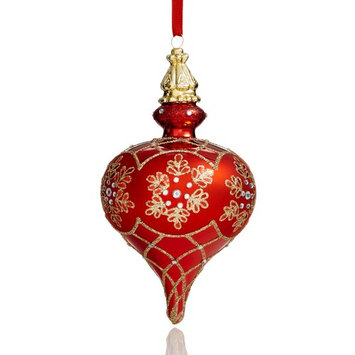 Red Drop Ornament with Rhinestones, Created for Macy's