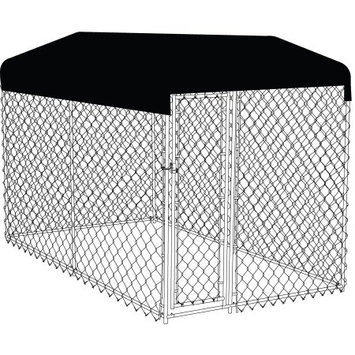 Jewett-cameron Company AKC Chainlink Dog Kennel w/ Roof Kit