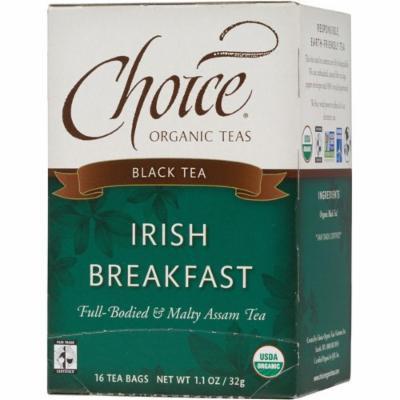 Choice Organic Teas Irish Breakfast Tea - 16 Tea Bags - Case of 6