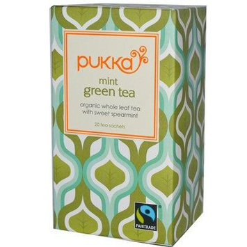 Pukka Herbal Teas Mint Green Tea Bags, 20 Count