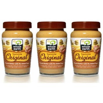 (3 PACK) - Whole Earth - Original Smooth Peanut Butter | 340g | 3 PACK BUNDLE