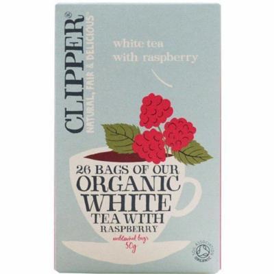 (12 PACK) - Clipper - Organic White Tea Raspberry | 26 Bag | 12 PACK BUNDLE