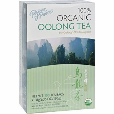 2 Pack of Prince of Peace Organic Oolong Tea - 100 Tea Bags - 95%+ Organic - 100% Natural - Antioxidant - hand pick, delightly aromatic with a mild flavor and bright golden color