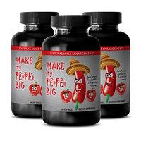 Sex enhancers for men - MAKE MY PEPPER BIG - Male libido booster stimulant - 3 Bottles 180 capsules