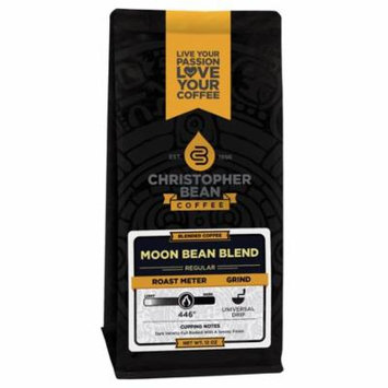 Decaf Moon Bean Blend regular non flavored Ground Coffee, 12 Ounce Bag