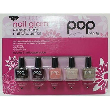 POP beauty Nail Glam Nail Lacquer 5 piece Kit by POP beauty