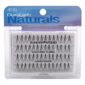 Ardell Duralash Naturals Flare Long Black (56 Lashes) (3-Pack) with Free Nail File by Ardell