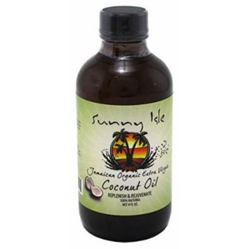 Sunny Isle Jamaican Extra Virgin Coconut Oil 4oz (2 Pack) by Sunny Isle