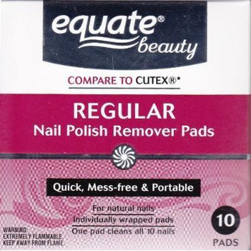 Acetone Regular Nail Polish Remover Pads by Equate 10ct Compare to Cutex by Equate