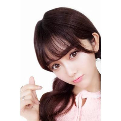 Generic Korean_Air_Liu wig is_really_a wig women girls _Mini_ultra-thin,_invisible_no_trace_leave_Liu_Qi_Liu_Film