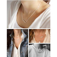 Generic 925_Pure_ silver _?_luo_ji,_with slotted_insert_drill_collarbone_ chain