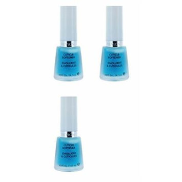 Revlon Cuticle Softener, 0.5 Fluid Ounce (3 Pack) + FREE Travel Toothbrush, Color May Vary