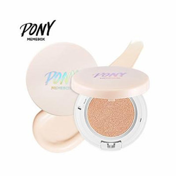 PonyEffect Shine Easy Glam Blossom Fitting Cushion Foundation 15g with Refill 15g newly launched (Beige)