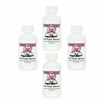 Piggy Paint Nail Polish Remover, 4 Fluid Ounce (4 Pack)