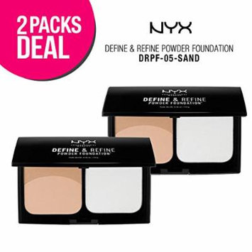 (2 PACK) N.Y.X. Define & Refine Powder Foundation (DRPF-05)