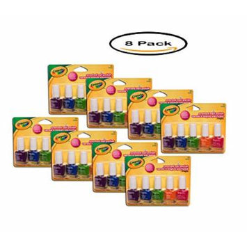PACK OF 8 - Fing'rs Crayola Scented Nail Polish, 0.20 fl oz, 5 ct