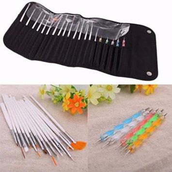 20PCS UV Gel Nail Art Design Set Dotting Painting Drawing Polish Brush Pen Tools
