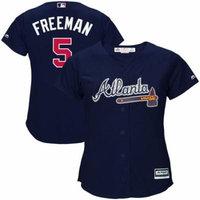 Freddie Freeman Atlanta Braves Majestic Women's Cool Base Player Jersey - Navy