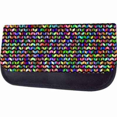 Colorful Chevrons Jacks Outlet TM Nylon-Lined Cosmetic Case