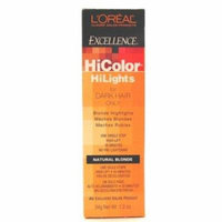 L'Oreal Excellence Hicolor Hilights Natural Blonde 1.74 oz. (3-Pack) with Free Nail File