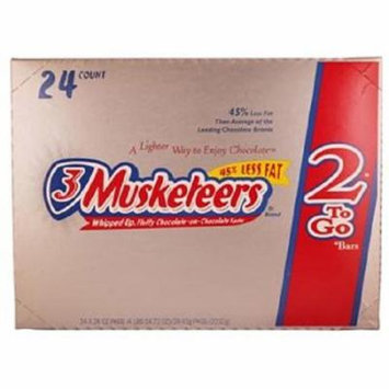 Product Of 3 Musketeers, King Size Chocolate, Count 24 (3.28 oz) - Chocolate Candy / Grab Varieties & Flavors