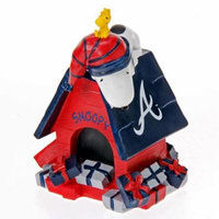 Atlanta Braves Peanuts Holiday Snoopy Dog House Figurine - No Size