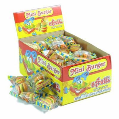 Product Of E.Frutti, Mini Burger Gummi, Count 60 (0.31 oz) - Sugar Candy / Grab Varieties & Flavors