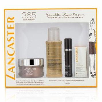 Lancaster 365 Skin Repair Set: Youth Renewal Day Cream 50ml+ Serum Youth Renewal 10ml+ Eye Serum 3ml+ Express Cleanser 100ml - 4pcs
