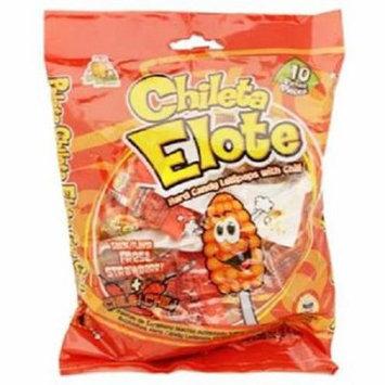 Product Of El Azteca, Chileta Lollipops Elote W/Chili - Bag, Count 10 - Sugar Candy / Grab Varieties & Flavors