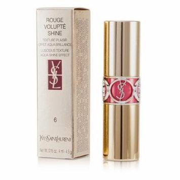 Yves Saint Laurent Rouge Volupte Shine - # 6 Pink In Devotion/ Pink Safari - 4.5g/0.15oz