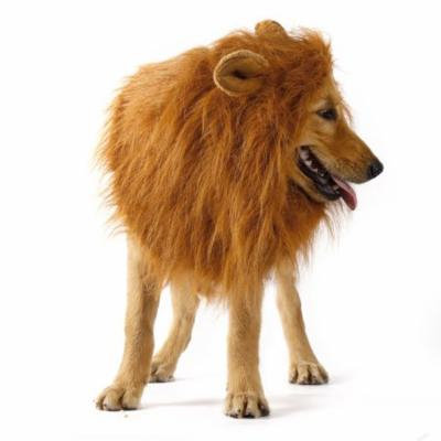Pet Large Dog Costume Lion Mane Wig Hair Festival Fancy Dress up