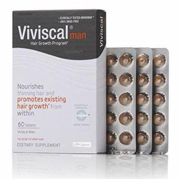 2 Pack Viviscal Man Hair Growth Supplement Program 60 Tablets Each
