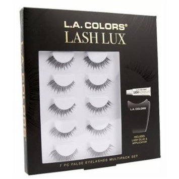 L.A. Colors False Eyelashes 7 Piece Set 1count (pack of 3)
