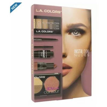 L.A. Colors Instalook 20 Piece Eyeshadow/Eye Liner, Nude 1 Count (pack of 2)