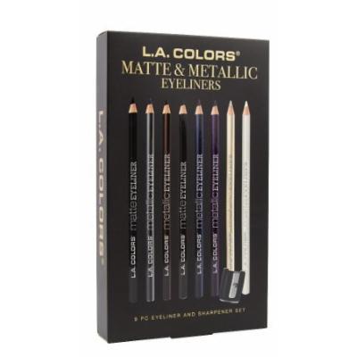 L.A. Colors Matte Eyeliner 9 Piece Set 1 count ( pack of 3)