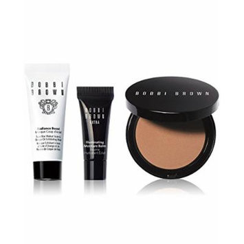 Bobbi Brown Minis Glow Makeup Set, Illuminating Bronzing Powder, Moisture Balm, Radiance Boost Mask