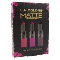 2 pack of L.A. Colors Berry Matte Lipstick 3 Piece Set 1 ea