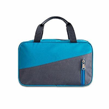 WIN Large Make Up Bag,Waterproof Nylon Toiletry Bag torage Make Up Pouch For Women Men (Blue)