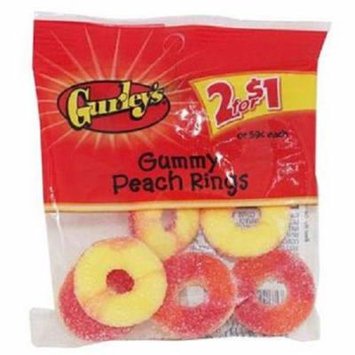 Product Of Gurleys, 2/$1.00 Gummy Peach Rings, Count 12 - Sugar Candy / Grab Varieties & Flavors