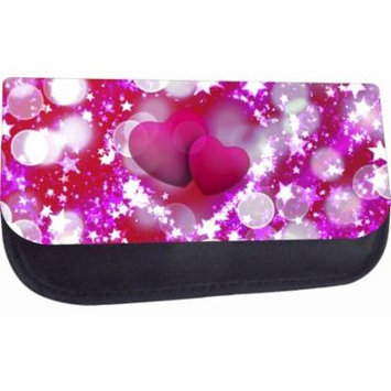 Hearts and Stars - Medium Sized Nylon-Lined Cosmetic Case - Love/ Valentine's Day Gift