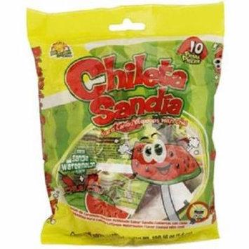 Product Of El Azteca, Chileta Lollipops Sandia W/Chili - Bag, Count 10 - Sugar Candy / Grab Varieties & Flavors