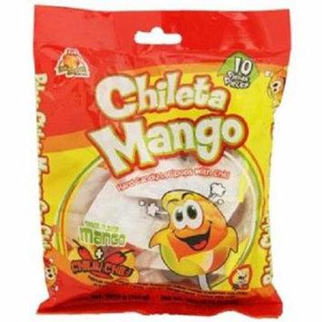 Product Of El Azteca, Chileta Lollipops Mango W/Chili - Bag, Count 10 - Sugar Candy / Grab Varieties & Flavors