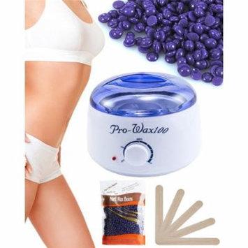 Warmer Wax Heater Hair Removal,Hot Paraffin Wax Pot Warmer Heater Salon Spa Depilatory(300g Lavender flavor Beans)