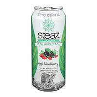 Steaz Zero Calorie Green Tea - Blackberry - Case of 12 - 16 Fl oz.
